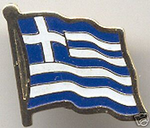 Greece, Ellás - Hellenic Republic Flag Pin NEW