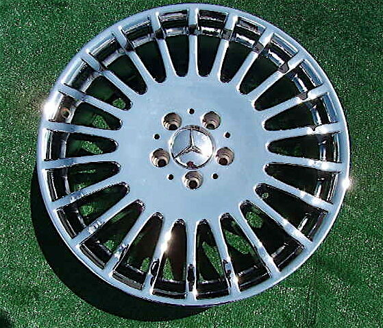 Brand New Chrome Genuine Mercedes Benz S600 19 inch Wheels S550 CL600 CL550