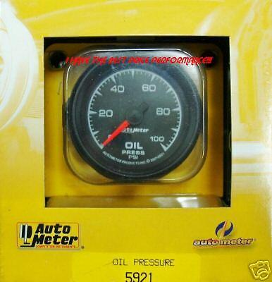 Auto Meter 5921 ES Series Oil Pressure 0 100 PSI
