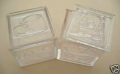 12 CLEAR BABY BLOCK FAVOR BOX Baby Shower Decoration 2