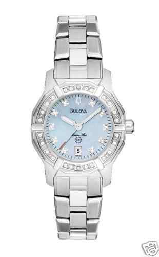 New Ladies Bulova Marine Star Diamond Watch 96R109