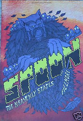 SPOON/Heavenly States F970 Fillmore Poster Matt Leunig