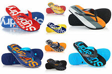 New Mens Superdry Flip Flops Selection. Various Styles & Colours