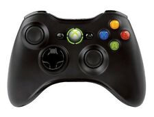 New Official Microsoft Xbox 360 Wireless Controller Black - New