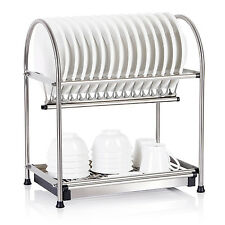 Lifewit Over The Sink Shelf Stainless Dish Rack Draining Storage Holder 2-Tier