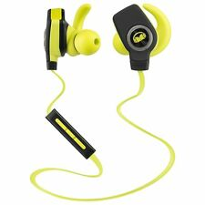 Monster iSport Wireless Bluetooth In Ear Only Super Slim Headphones Green