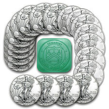2017 1 oz Silver American Eagle Coins BU (Lot, Roll, Tube of 20) - SKU #117462