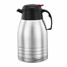 VonShef 2L Stainless Steel Dispenser Insulated Hot & Cold Flask Vacuum Tea Jug