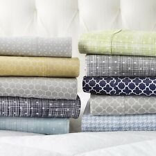 The Home Collection - 4 Piece Pattern Bed Sheet Sets - 5 Designs